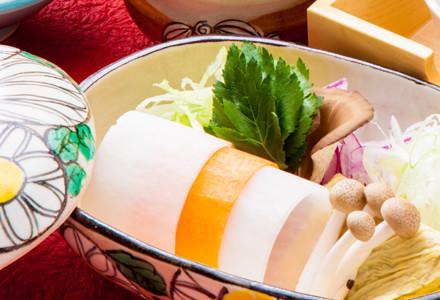 湯葉と地野菜の7色しゃぶ